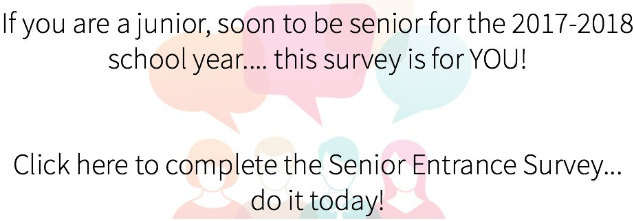 senior entrance survey