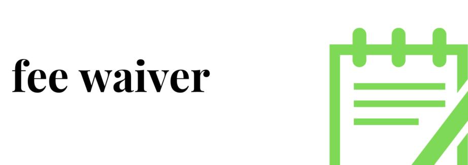 fee waiver(2)
